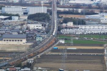 07突っ込んでくる信長軍(新幹線).JPG
