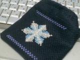 雪の結晶のミニ巾着
