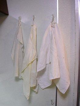 一日使った布巾はよれよれ