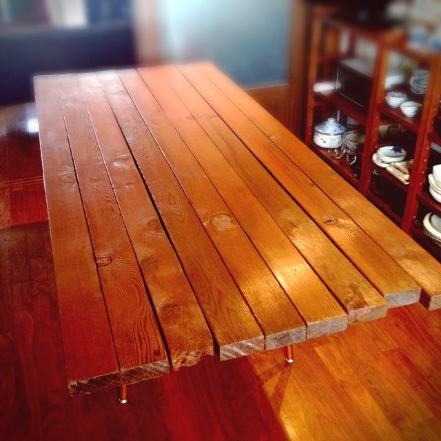 ダイニングテーブル DIY  手作り 図工机