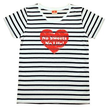 ボーダーハートロゴTシャツ