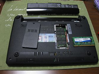 EeePC 1005HA メモリ増設 09