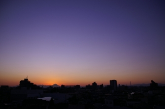 夕日、夕焼け 2011年12月11日