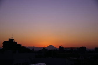 夕日、夕焼け 2011年12月11日寄り