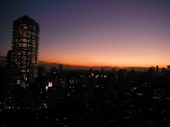 夕日、夕焼け 2011年12月09日 六本木