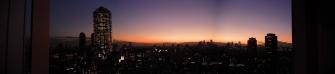 夕日、夕焼け 2011年12月09日 六本木 パノラマ