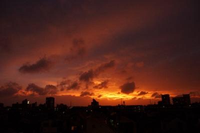20140810_台風の夕焼け