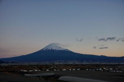 2015 元旦 初日の出直前 富士山