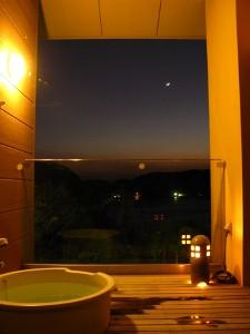 宿〇文 客室露天風呂