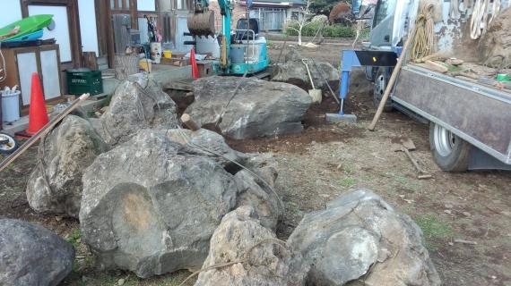 鳥海石 石組み