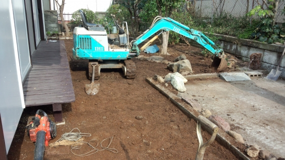 掘削・整地作業