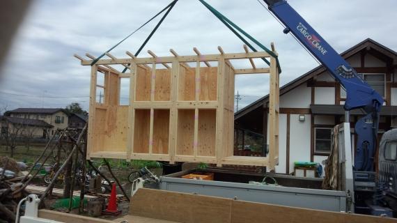 物置 薪棚 搬入・設置
