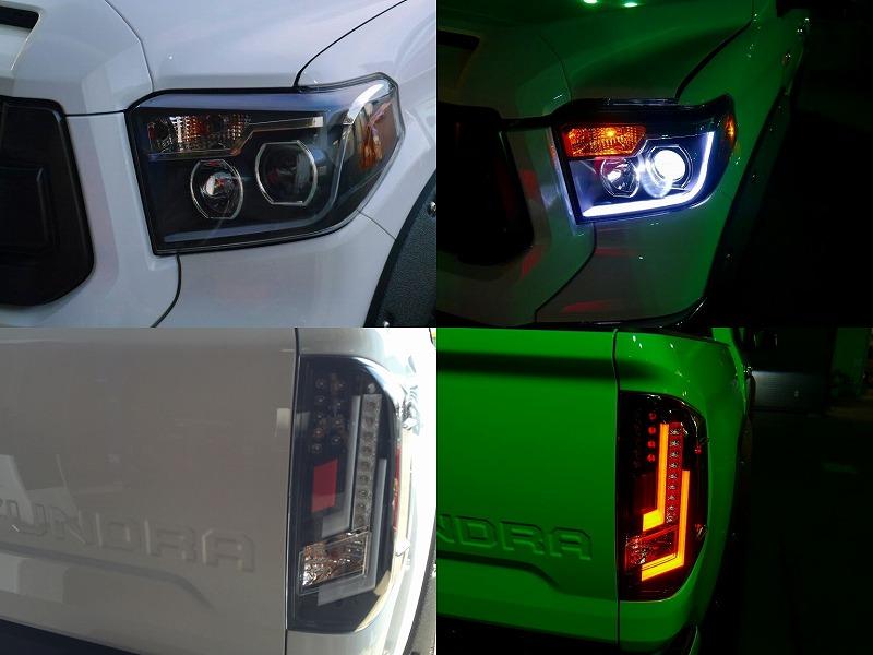 2015年モデル_USトヨタ_タンドラ_クルーマックス_カスタムデモカー_ LINEX-TRDプロ仕様 LEDヘッドライト LEDテールランプ