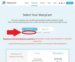 ManyCam5.0はロゴが消えない