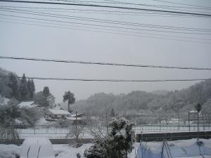 京丹波町は真っ白に