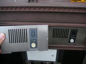 ポスト用玄関子機(エクステリアメーカー用ポスト取付)IE-JEXの交換