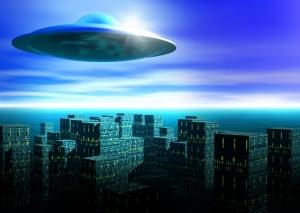 UFOが上空に