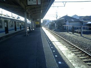 田沼駅に到着