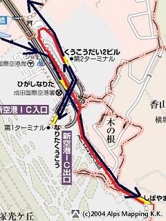 成田空港の地図
