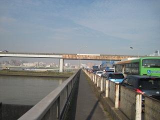 葛西橋の歩道