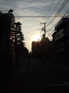 秋空夕焼け20071007