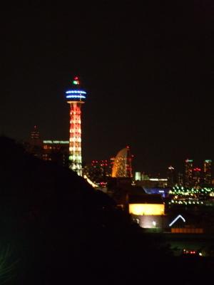 20071210港が見える丘公園から見えるマリンタワー