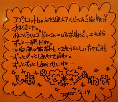 20080219アプリちゃん、おめでとう!!