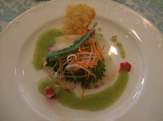 20080223よっちゃん結婚式 桜鯛のマリネプランタニエール 水芹のピストー