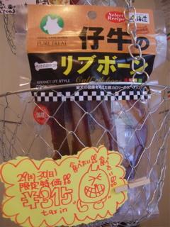 20081129-30限定SALE!! 仔牛のリブボーン1