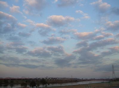 20081201荒川の土手夕焼け2