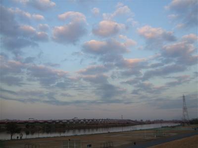 20081201荒川の土手夕焼け3