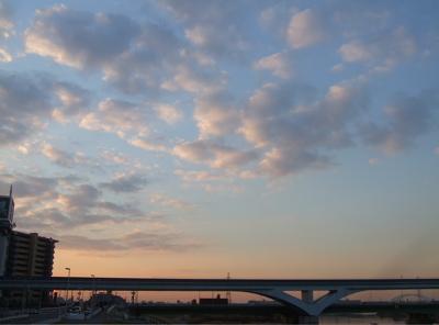 20081201荒川の土手夕焼け4