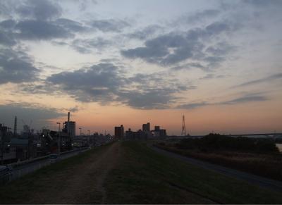 20081201荒川の土手夕焼け9