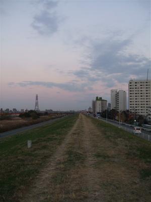 20081201荒川の土手夕焼け10