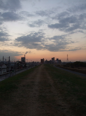 20081201荒川の土手夕焼け11