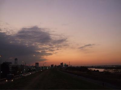 20081201荒川の土手夕焼け15