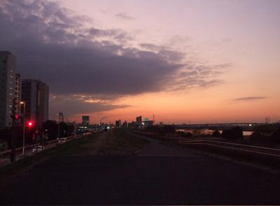 20081201荒川の土手夕焼け17