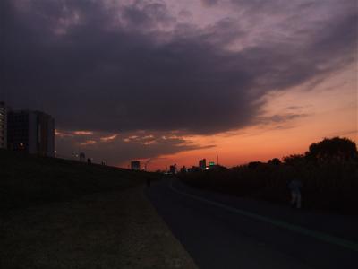 20081201荒川の土手夕焼け18