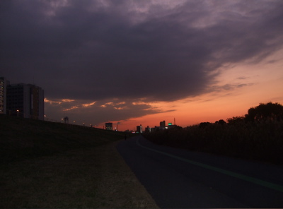 20081201荒川の土手夕焼け19