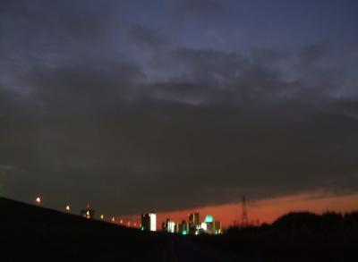20081201荒川の土手夕焼け23