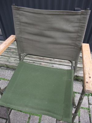 折りたたみチェア 軍放出品 グリーン カーキ 8