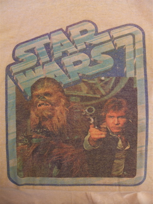 STA WARS スター・ウォーズ ハン・ソロ チューバッカ ヴィンテージTシャツ 染込みプリント 1980年代 80s 2