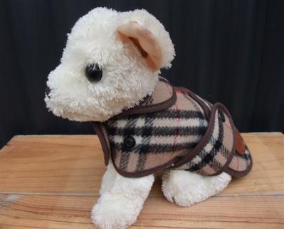 Burberrys バーバリー ウールチェックコート ドッグウェア 犬用ウェア 5