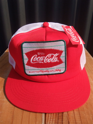 BACKDROP COCACOLA ENJOY COKE コカ・コーラ メッシュキャップ 古着 アメカジ バックドロップ フントヒュッテ 東京 文京区 トリミングサロン 子犬 リード 1.jpg