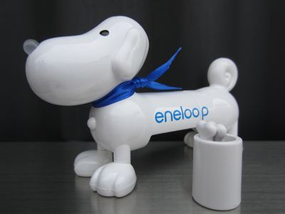 SANYOeneloopサンヨーエネループくり返し使う充電池eneloopyエネルーピー簡易バッテリーチェッカー鼻が光って充電残量をお知らせfunfuneneloopyエネループのマスコットキャラクター6.jpg