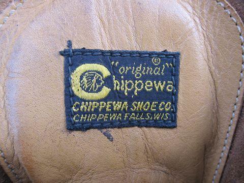 Chippewaビンテージブーツ黒タグ刺繍タグビブラムソールベロ裏刺繍黒タグ仕様60sチペワビンテージ古着MADE IN USAアメリカ製ワークブーツビンテージ3.jpg