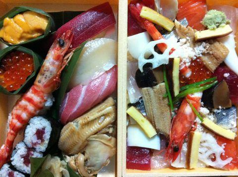 お寿司shshiにぎり寿司海老えびエビいくらうに雲丹中トロ大トロ赤身帆立ほたてホタテあなご穴子ガリあがりお茶ちらし寿司玉子たまごイカタコサーモン鮭さけしゃけ1.jpg