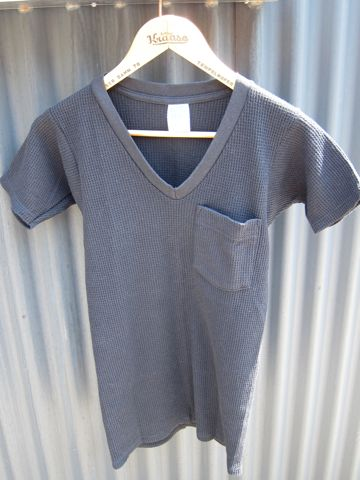 Green Hills Thermal MADE IN USA Sサイズ グリーンヒルズのサーマルTシャツ 50% POLYESTER 50% COTTON アメリカ製 サーマル VネックTシャツ ビンテージ ヴィンテージ 1.jpg