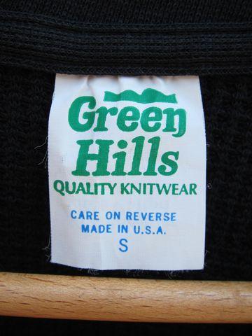 Green Hills Thermal MADE IN USA Sサイズ グリーンヒルズのサーマルTシャツ 50% POLYESTER 50% COTTON アメリカ製 サーマル VネックTシャツ ビンテージ ヴィンテージ 2.jpg