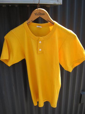 RUSSELL ラッセル ヘンリーネックTシャツ MADE IN USA Sサイズ サイズ34 サイズ36 アメリカ製 USA製 ビンテージ ヴィンテージ 古着 80s 80年代 アメカジ 2.jpg